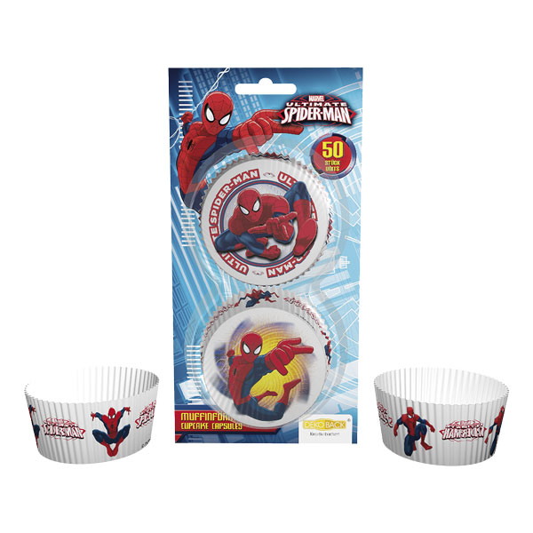 Muffinsforme Spiderman, 50 stk.