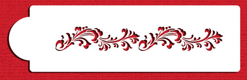 Image of   Filigree damask sidedesign, stencil