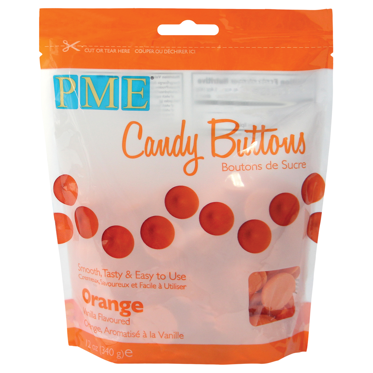 Image of Candy buttons, orange