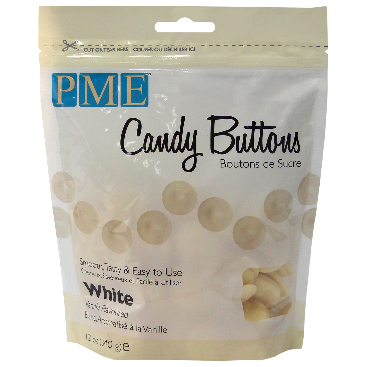 Image of Candy Buttons, hvid